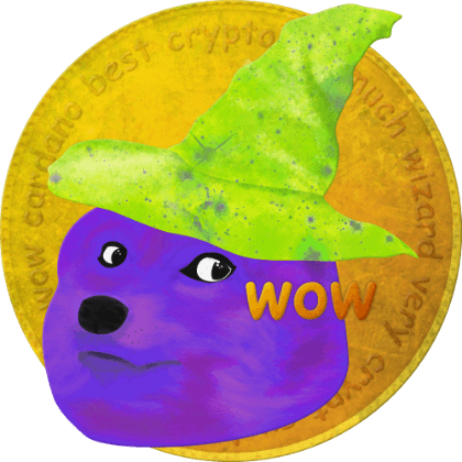 WIZDOGE, one of the earliest tokens produced by Wizard Crypt.